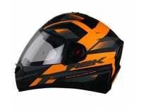 Steelbird R2K Full Face Graphics Helmet in Matt Finish with Plain Visor (Large 600 MM, Matt Black/Orange) Rs. 1784