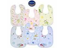 KOOCHI KOO Cotton Super Washable Absorbent Stylish Printed Baby Bibs Set of 6 Rs. 229