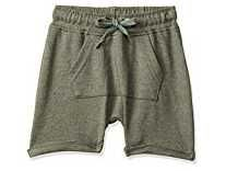 Donuts by Unlimited Baby Boys' Regular Fit Shorts (400017528427_Olive_06M) Rs.99