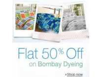 Bombay Dyeing Bedsheets Minimum 70% off + Buy 4 Get 15% off