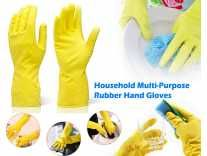 [Min 3 qty] DeoDap Cleaning Gloves Reusable Rubber Hand Gloves, Stretchable Glove Rs.49