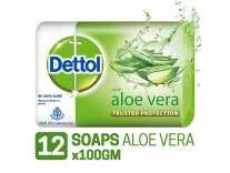 Dettol Soap – 100 g (Pack of 12, Aloe Vera) Rs.349