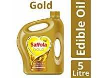 [Pantry Apply Coupon] Saffola Gold, Pro Healthy Lifestyle Edible Oil, 5 L Jar Rs.593
