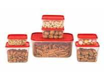 All Time Plastics Polka Container Set, 7-Pieces Rs.109