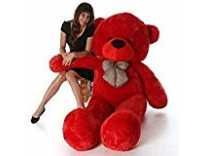 Click4deal Stuffed Soft Cotton Teddy (Red, 4 Feet) Rs.558