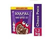 Soulfull Ragi Bites- Choco Poco, 1.2kg- No Maida Rs. 225