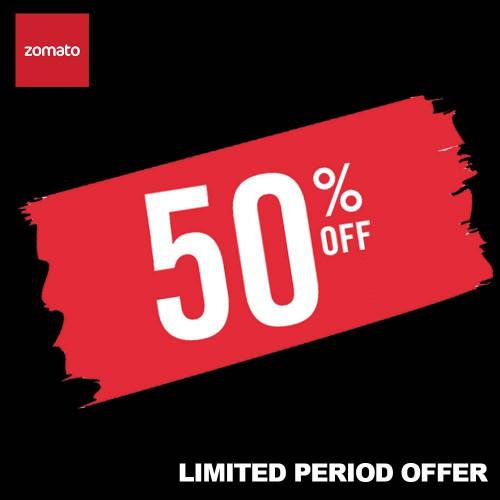Zomato Food Order Upto 50% Off