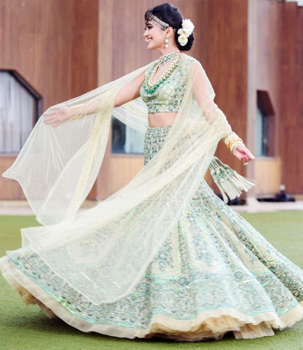 Indian TV Actress Shivani Joshi Look Stunning In A Bridal Lehenga
