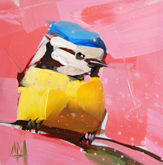 Beautiful Birds Painted Using Broad Strokes