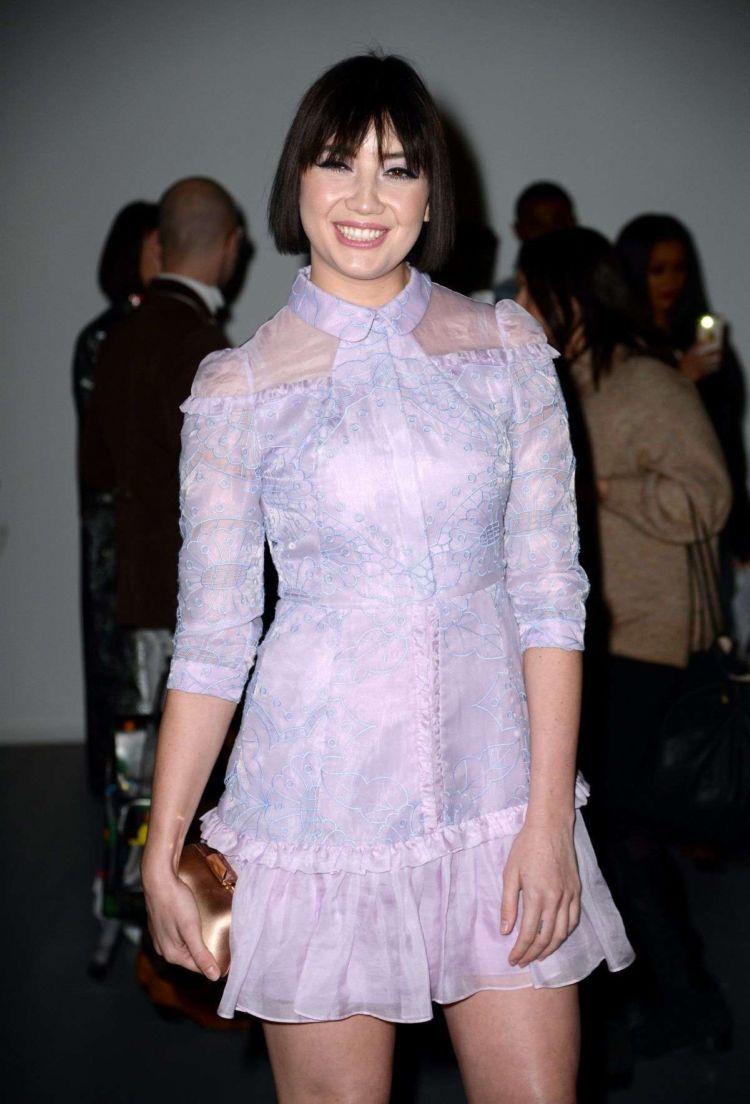 Daisy Lowe Attended Bora Aksu Show At London Fashion Week
