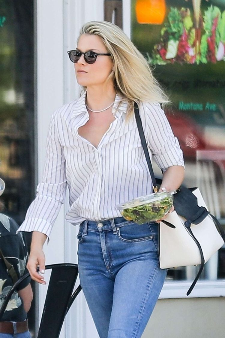Ali Larter Candids In Jeans Out In Santa Monica