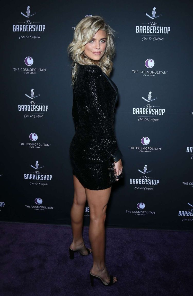 AnnaLynne McCord At The Grand Opening Weekend Of The Barbershop Cuts and Cocktails In Las Vegas