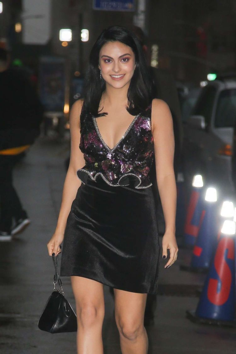 Camila Mendes Candids Outside 'The Late Show with Stephen Colbert' In New York