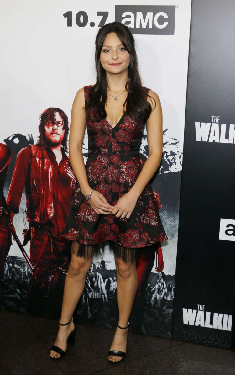 Cassady McClincy Attends The Premiere Of AMC's 'The Walking Dead' Season 9