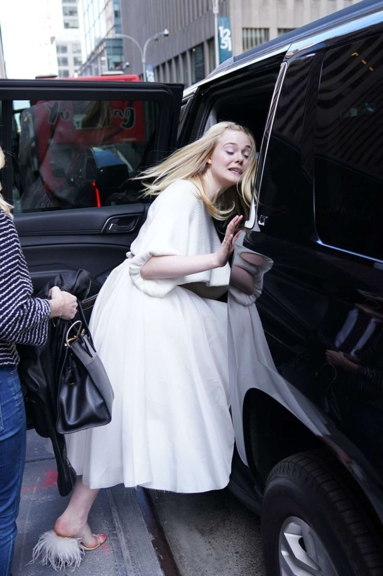 Elle Fanning Visits SiriusXM Radio Station In New York