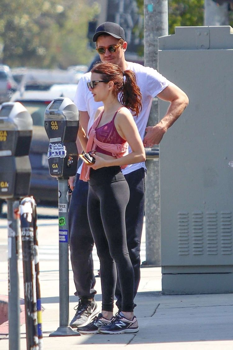 Emma Roberts Candids Outside A Gym In Los Angeles
