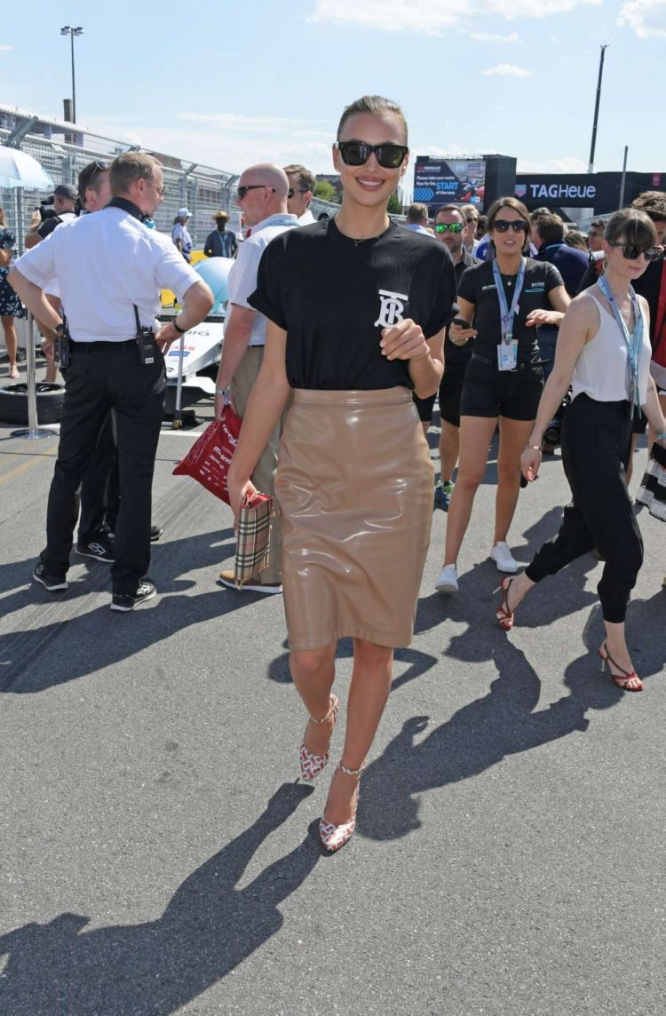 Irina Shayk Attends Formula E 2019 New York City E-Prix