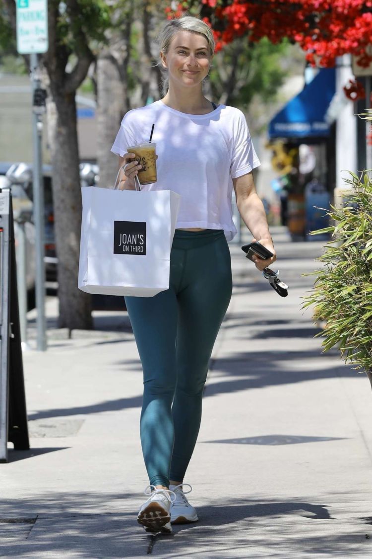 Julianne Hough Candids In Tights At Joan's On Third In Los Angeles