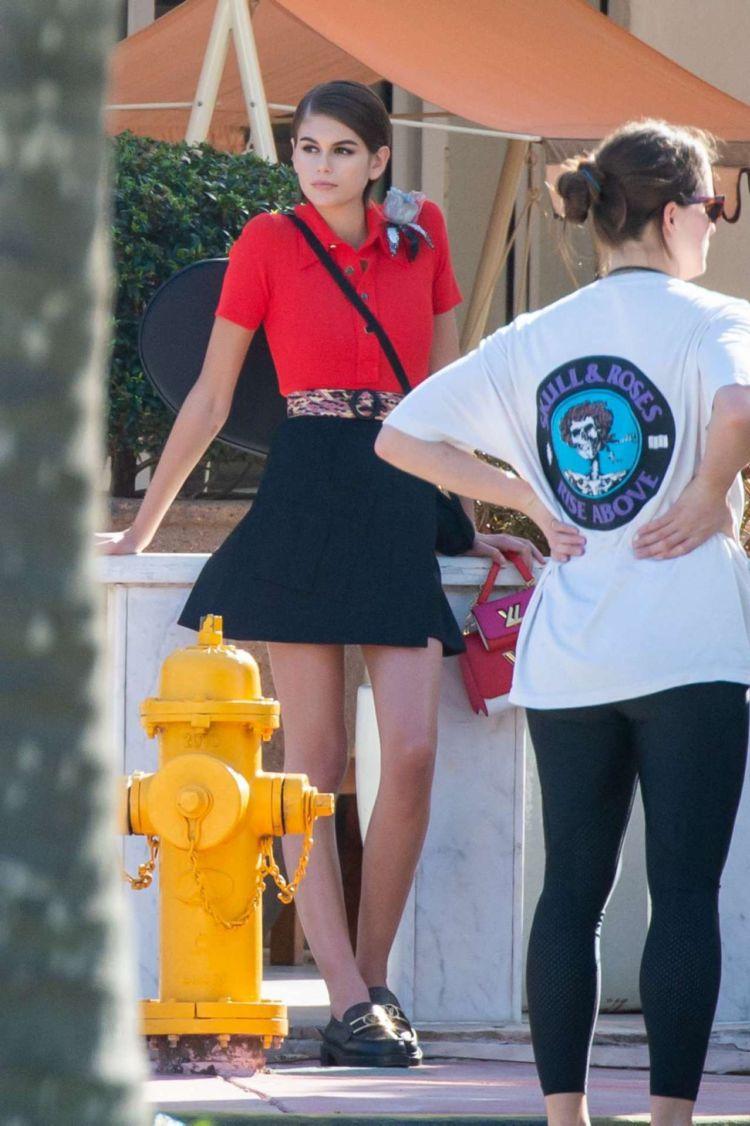 Kaia Gerber Poses For A Photoshoot Near The Beach In Miami