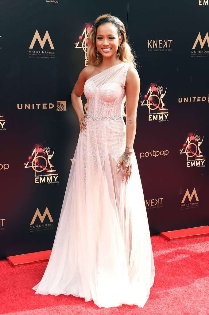 Karrueche Tran Graces The Red Carpet Of 46th Annual Daytime Emmy Awards