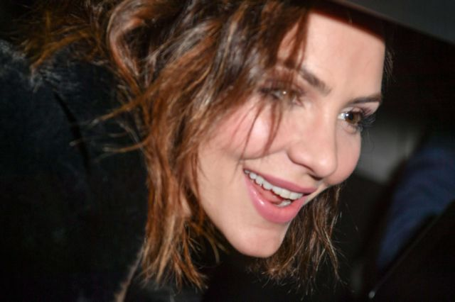 Katharine McPhee Spotted Outside The Adelphi Theatre In London