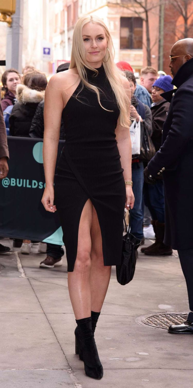 Lindsey Vonn Candids Outside AOL Build In New York