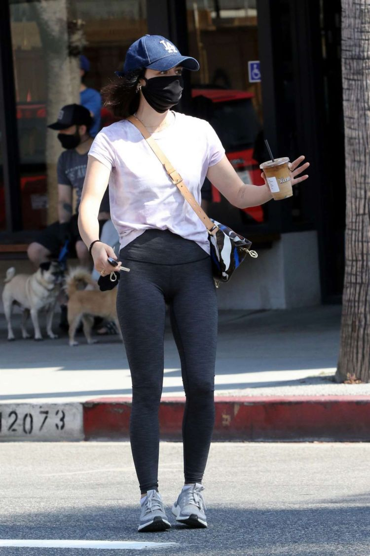 Lucy Hale Gets A Coffee With A Girlfriend In Studio City