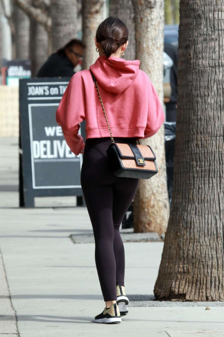 Lucy Hale Candids Outside Joan's On Third In Studio City