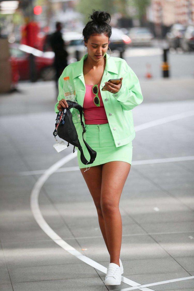 Maya Jama Candids Out In London