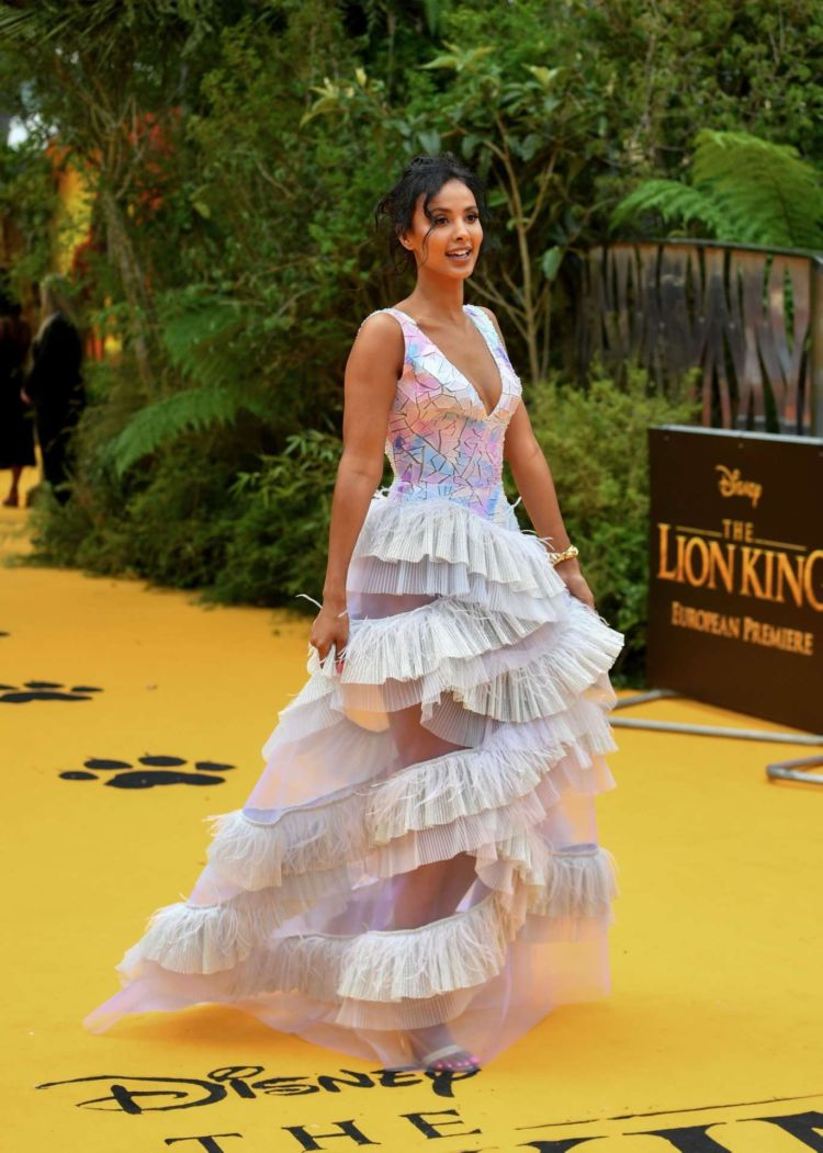 Gorgeous Maya Jama At The European Premiere Of 'The Lion King' In London