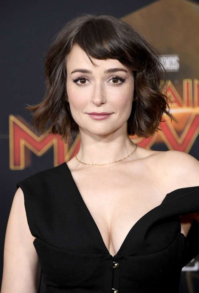 Milana Vayntrub Attends The Premiere Of Captain Marvel
