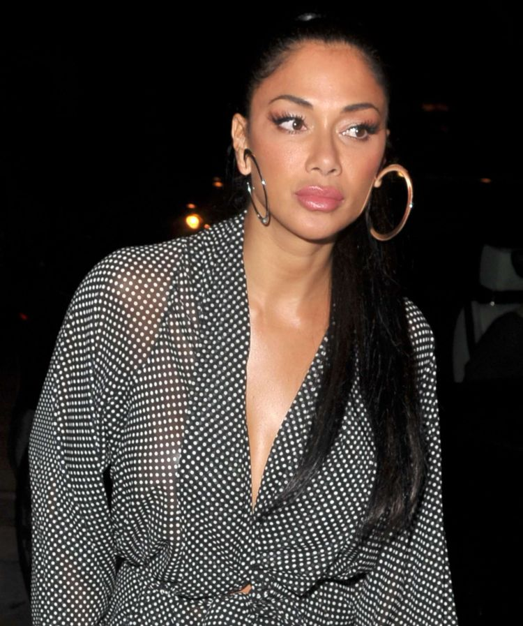 Nicole Scherzinger Candids At Craig's In West Hollywood