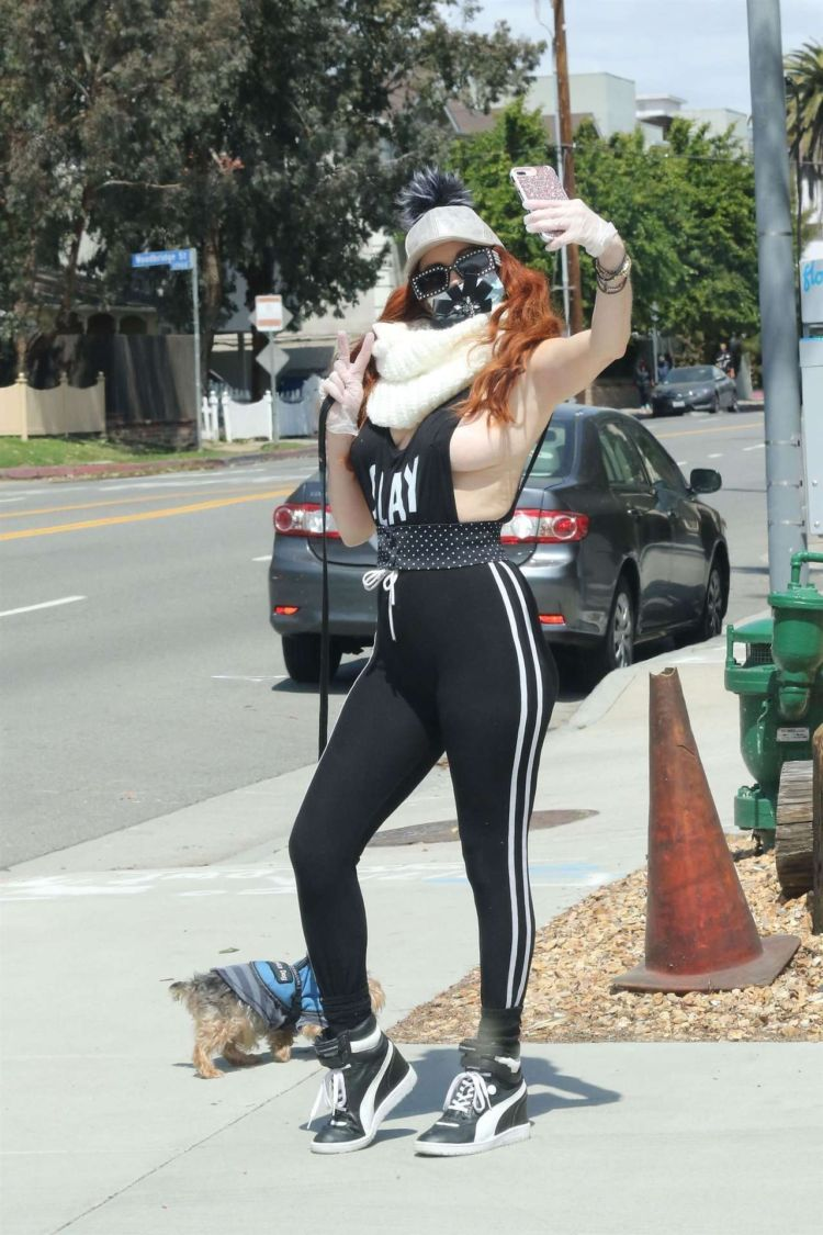 Phoebe Price Spotted Walking Her Dog In Los Angeles
