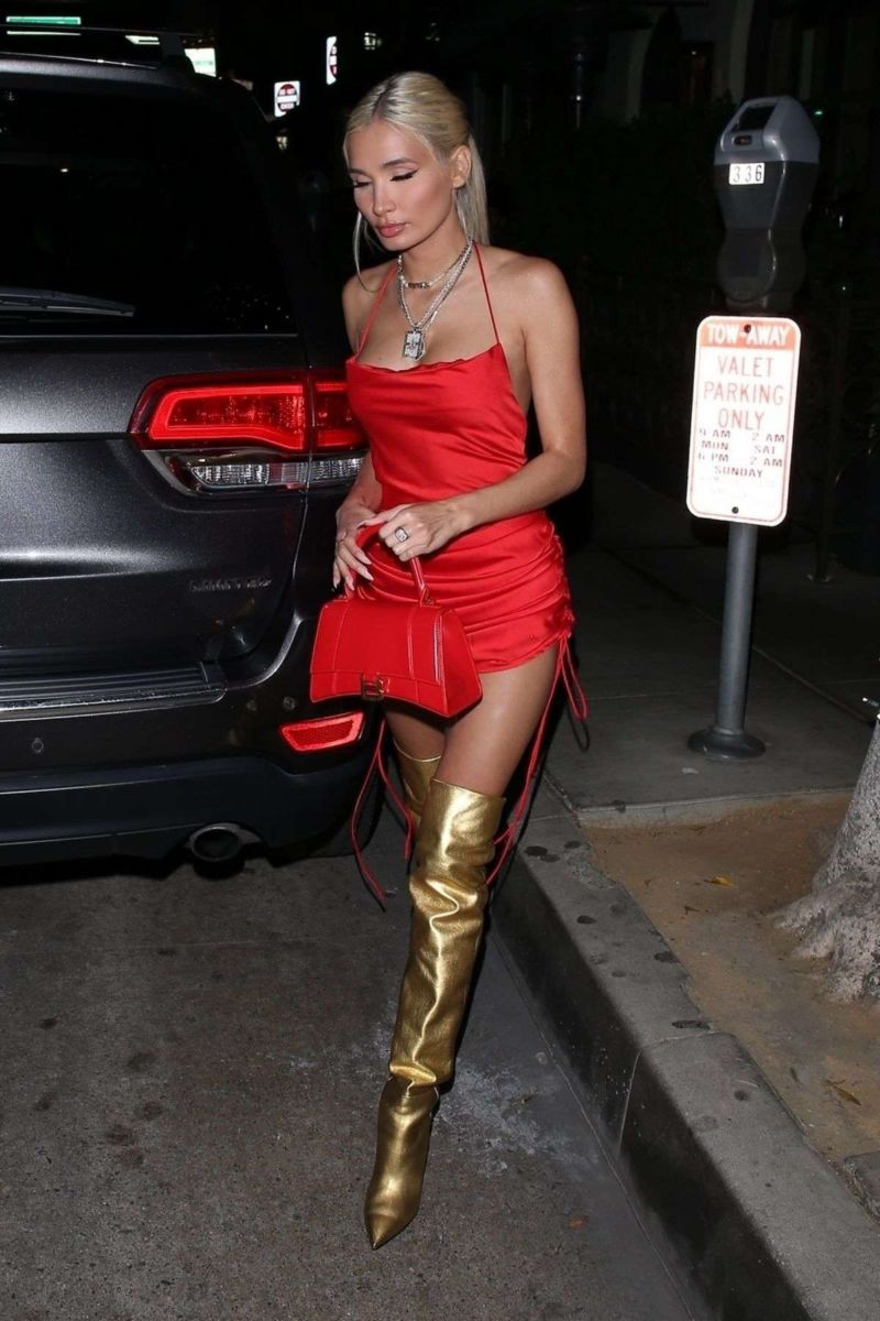 Pia Mia Perez Candids While Leaving Madeo In Beverly Hills