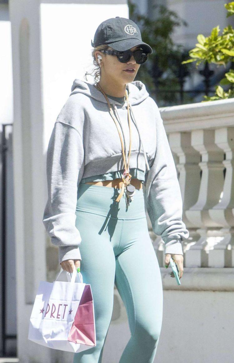 Rita Ora Candids In Tight Leggings Outside Her Gym In London