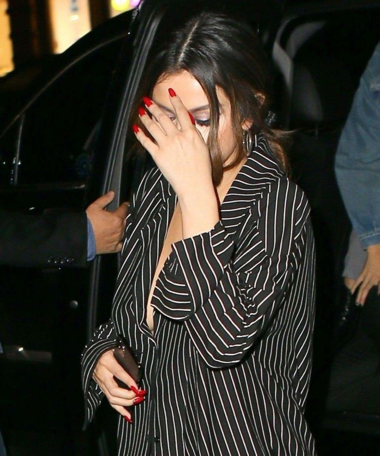 Selena Gomez Candids At La Esquina In New York