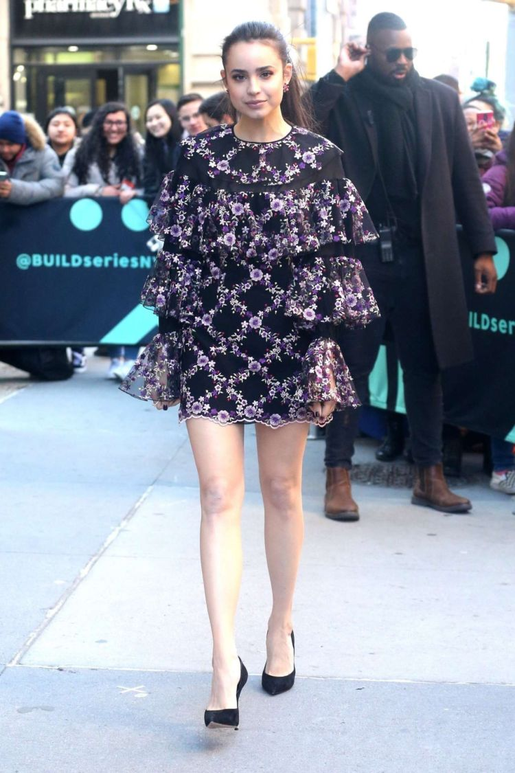 Sofia Carson Meets Her Fans Outside Build Studio In New York