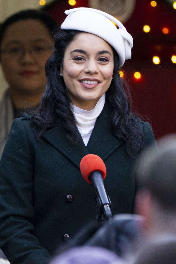 Pretty Vanessa Hudgens On 'The Princess Switch, Switched Again' Shoot In Edinburgh
