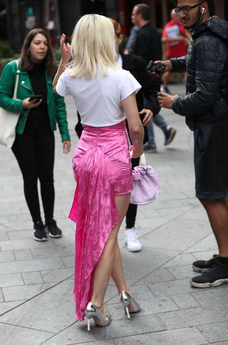 Zara Larsson Spotted Outside Capital Radio In London