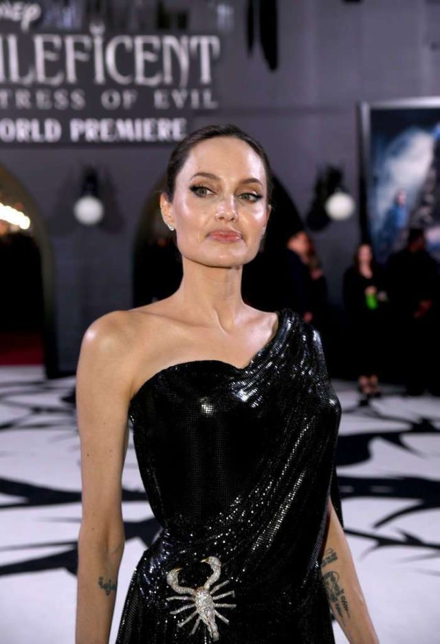 Gorgeous Angelina Jolie Attends The Premiere Of 'Maleficent: Mistress Of Evil'