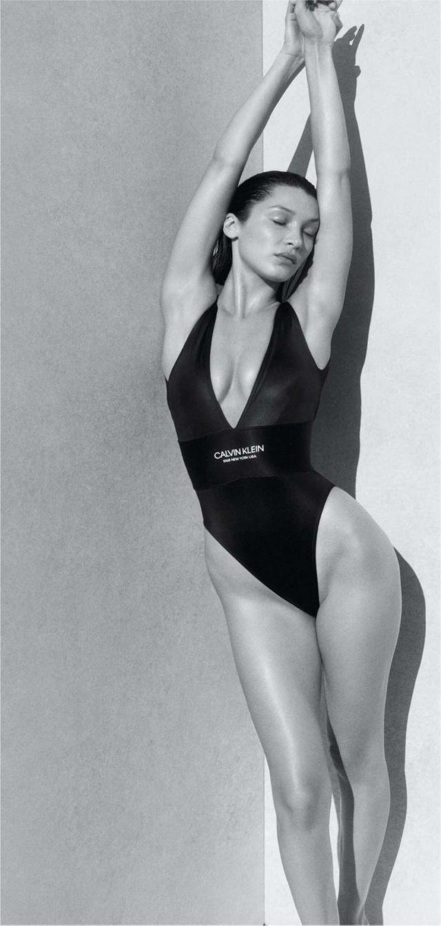 Stunning Bella Hadid For Calvin Klein Swimwear 2020 Campaign