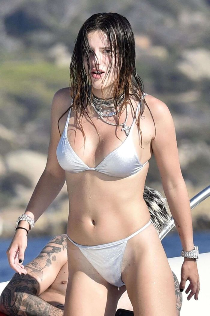 Bella Thorne On A Bikini Vacation At A Yacht In Sardinia