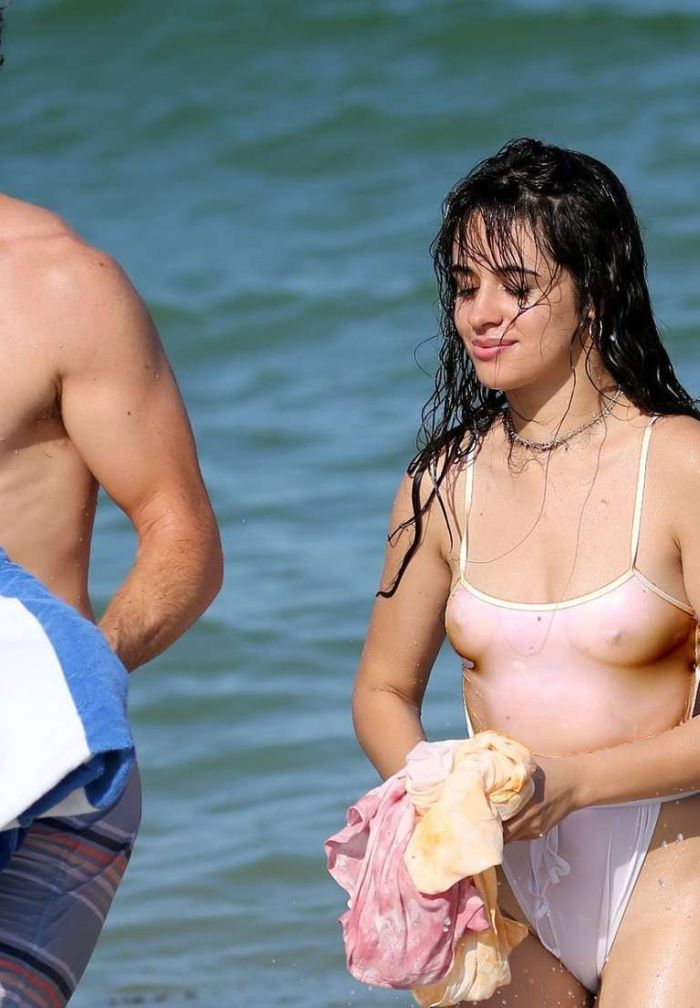 Camila Cabello On A Vacation In Swimsuit At The Beach In Miami