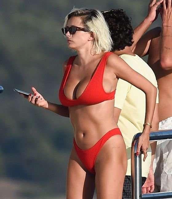 Caroline Vreeland Vacationing In A Red Bikini On A Yacht In Porto Cervo