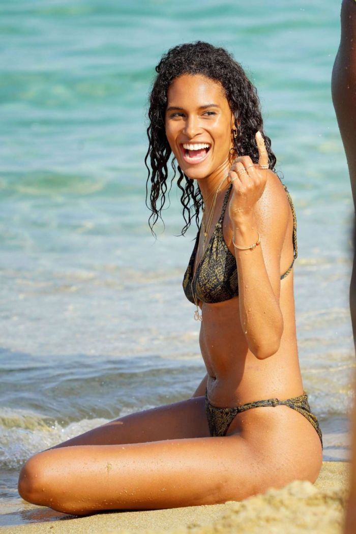 Cindy Bruna On A Bikini Vacation At The Beach In St Tropez