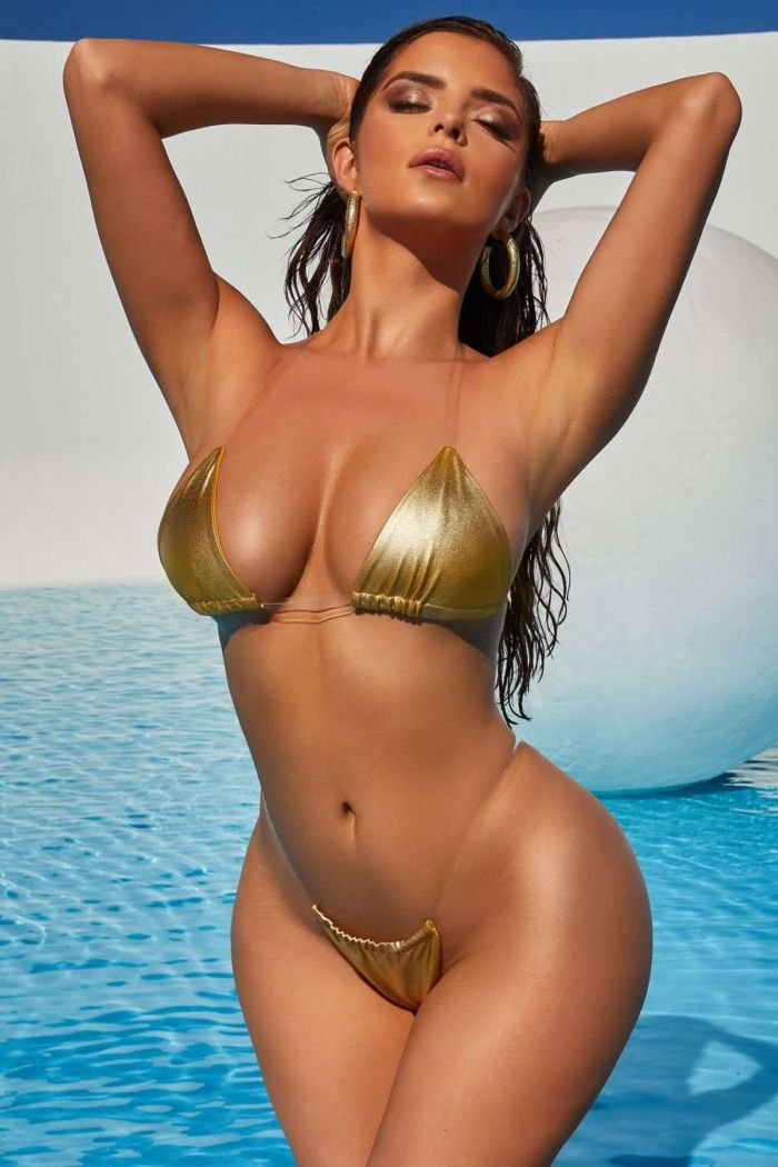 Demi Rose Mawby Showcasing 'Oh Polly' Beachwear Collection 2019