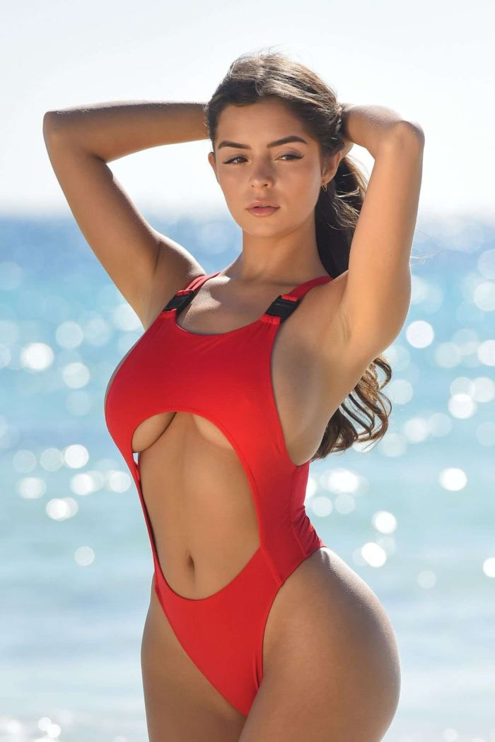 Demi Rose Mawby's Fantastic Red Swimsuit Photoshoot In Tulum