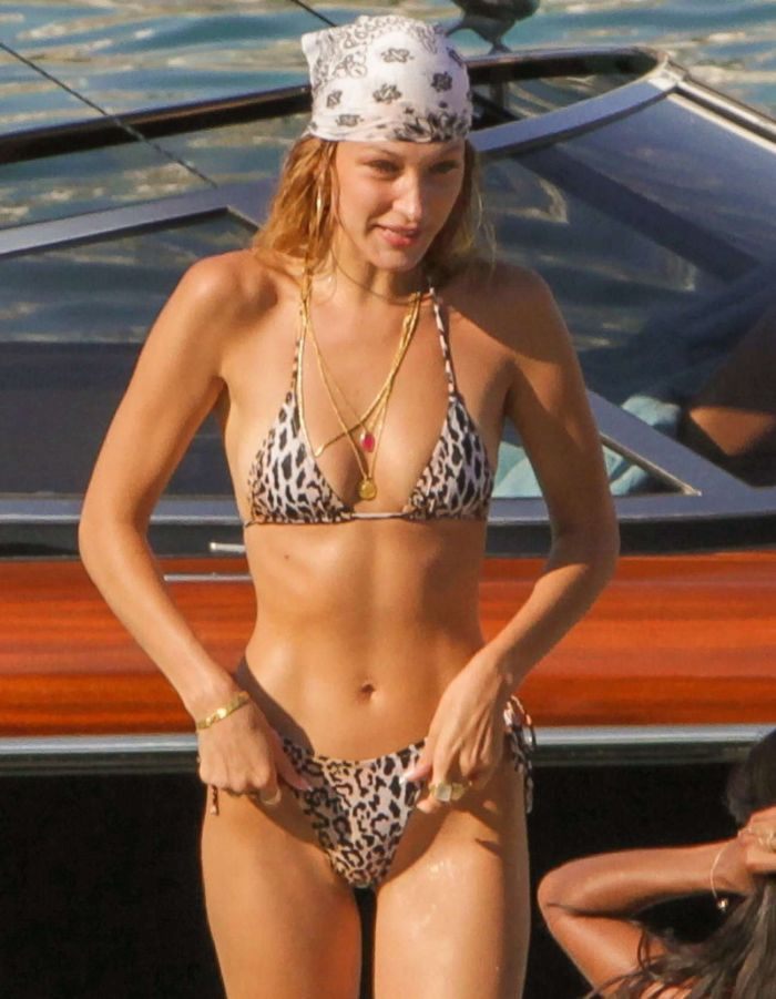 Gigi Hadid And Bella Hadid Taking Jet Skii Ride In Bikini On The Beach