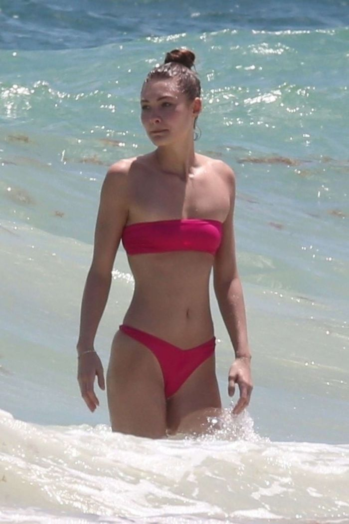 Grace Elizabeth On A Bikini Vacation At The Beach In Tulum
