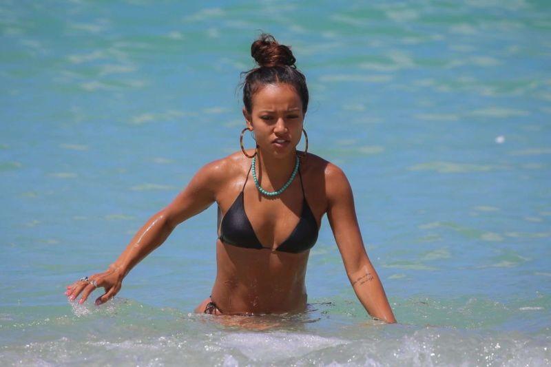 Karrueche Tran On A Bikini Vacation At The Beach In Miami